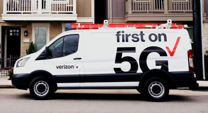 Verizon 5G sevice truck