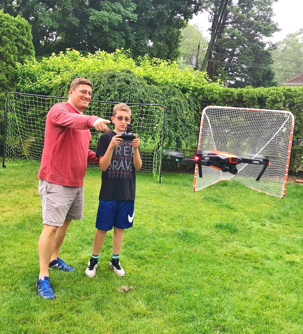 Autel Robotics EVO drone father and son flying
