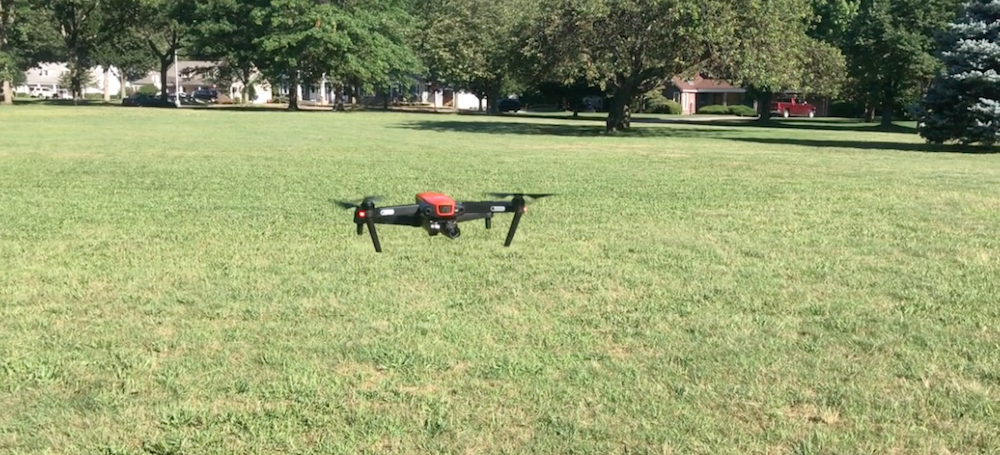 Autel Robotics EVO drone in flight close