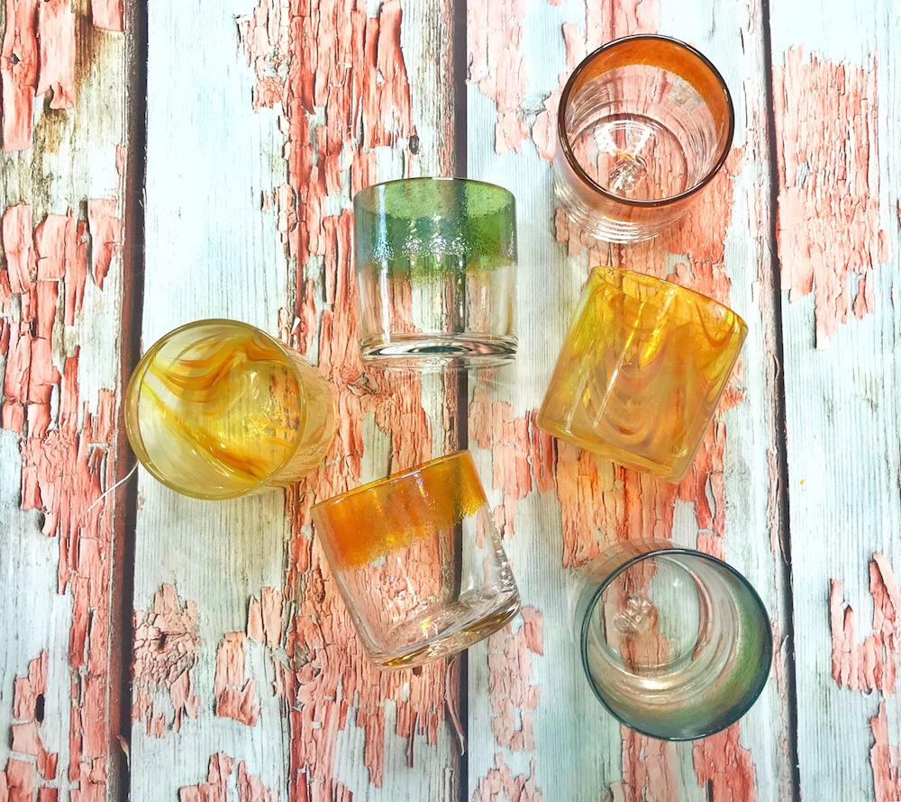 cocktail glass drinkware from JFR Glass flatlay