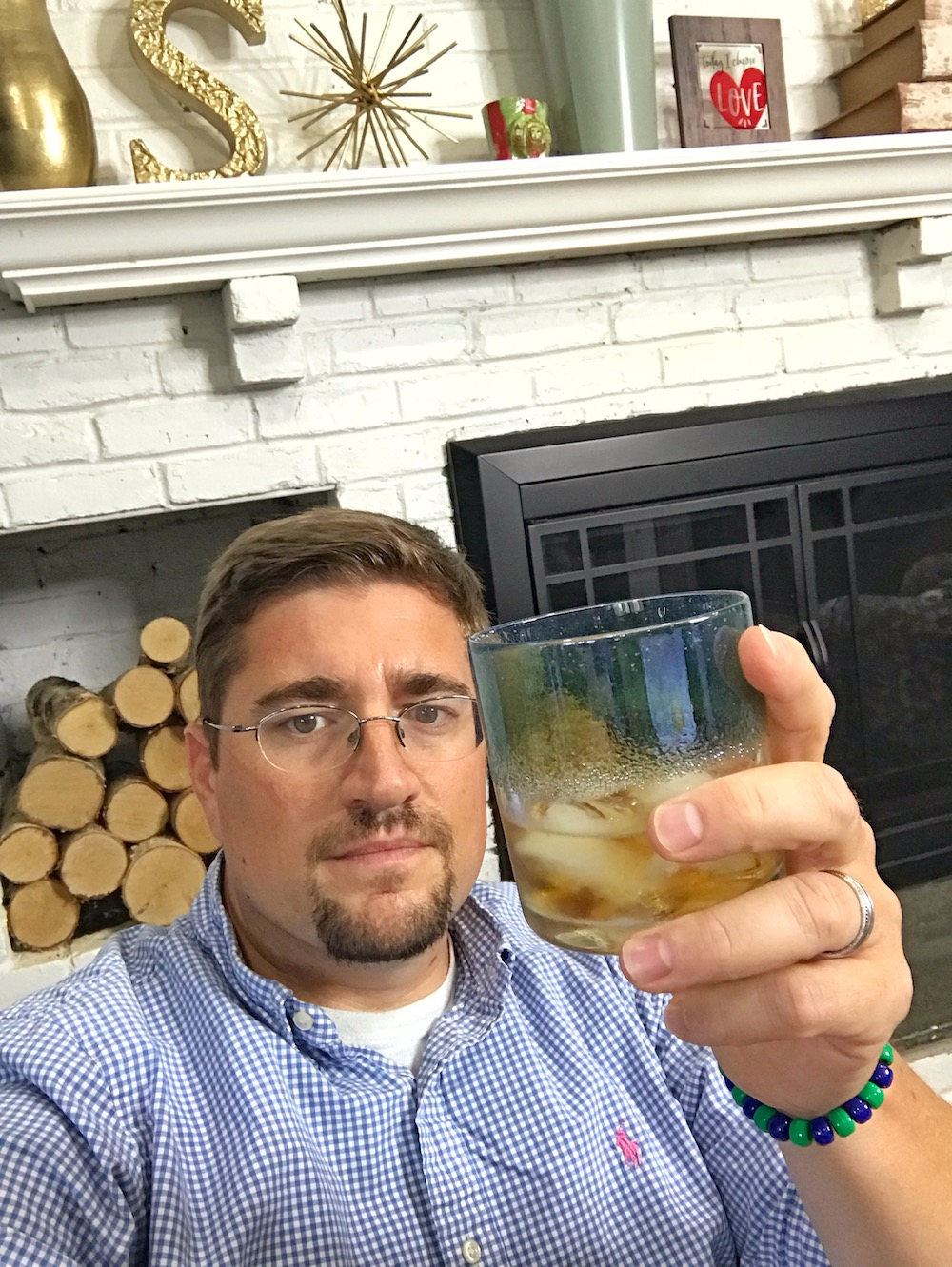 man holding cocktail glass drinkware from JFR Glass