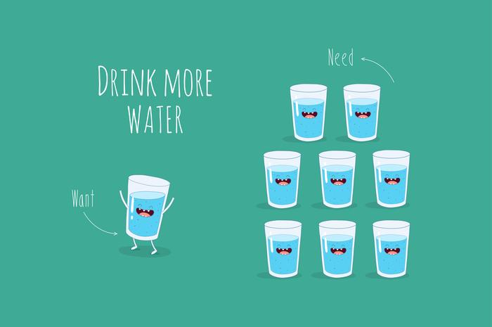 drink more water portion control tips