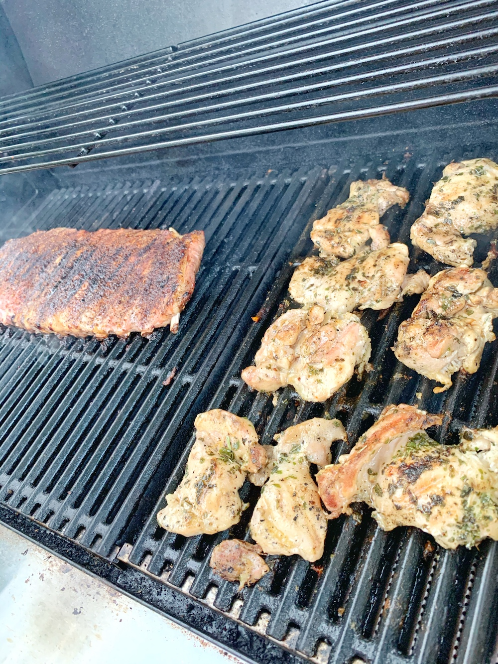 st louis style ribs on the grill